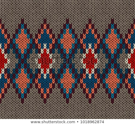 Seamless Knitted Pattern. Fashionable youth modern style Stock photo © ESSL