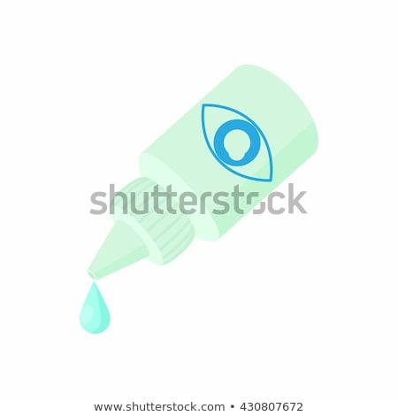 cartoon eye drops plastic bottle stock photo © hittoon