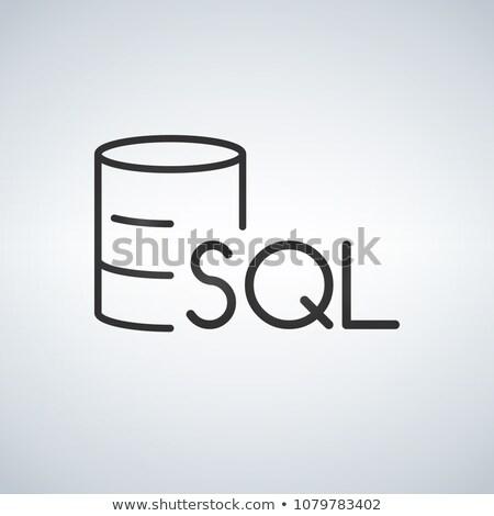 veritabanı · Sunucu · ikon · örnek · beyaz · iş - stok fotoğraf © kyryloff