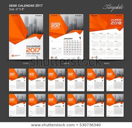 Ingesteld kalender vector sjabloon kantoor ontwerp Stockfoto © olgaaltunina