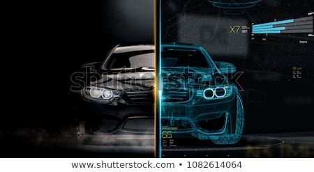 Samochodu projektu 3d ilustracji Internetu budynku sportu Zdjęcia stock © julientromeur