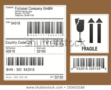 standard barcodes and shipping barcode  Stock photo © caimacanul