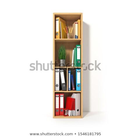 Bibliotheek boekenplank illustratie zoals brieven Stockfoto © lenm