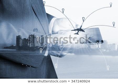 Aviazione internazionali abstract web globale Foto d'archivio © alexaldo