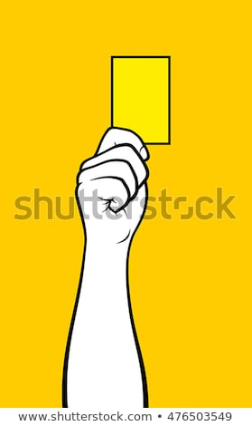 Hand showing yellow card Stock photo © Dinga