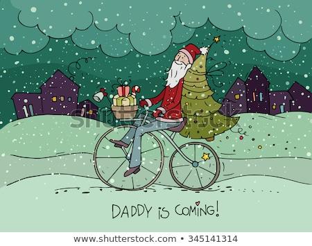 Stok fotoğraf: Noel · baba · kostüm · kutu · ayarlamak · dizayn
