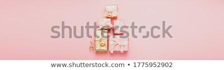 piros · égő · karácsony · gyertya · örökzöld · rusztikus - stock fotó © epitavi