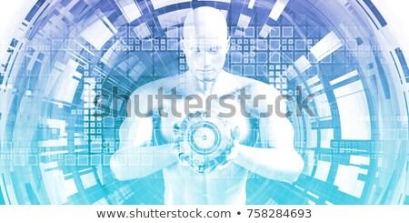 Büyük veri analitik çözümler 3d render siyah Stok fotoğraf © tashatuvango