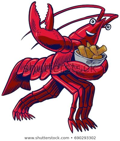 Esecuzione cartoon illustrazione rosso animale grafica Foto d'archivio © cthoman