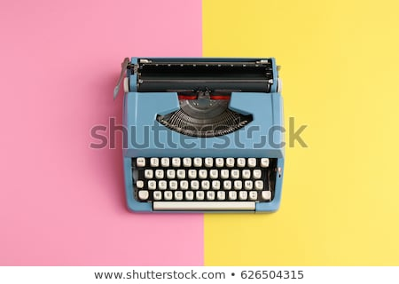 vintage typewriter with copy space stock photo © sqback