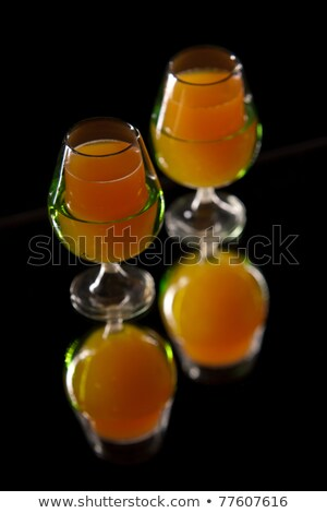 Arancione carota bere occhiali studio foto Foto d'archivio © msdnv