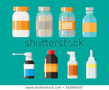 glass plastic medicine bottles vector illustration stock photo © robuart