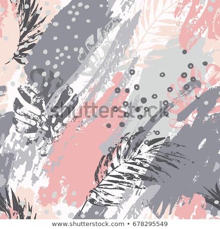 グレー · 壁 · アクリル · 塗料 · パターン · テクスチャ - ストックフォト © ivo_13