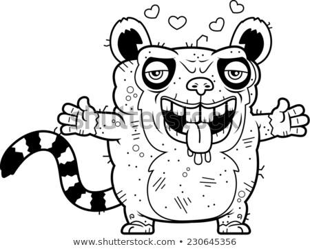 уродливые обнять Cartoon иллюстрация готовый давать Сток-фото © cthoman