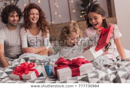 children opening christmas presents stock photo © choreograph