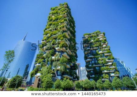 垂直 森林 建物 ミラノ イタリア 詳細 ストックフォト © boggy