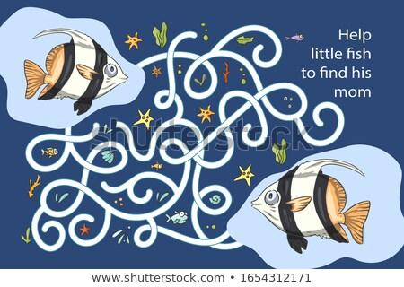 Subacquea pesce gioco modello illustrazione natura Foto d'archivio © colematt