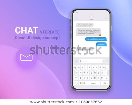 Chat bot concept with dialogue windows. Sms messenger, vector illustration. Stock photo © ikopylov