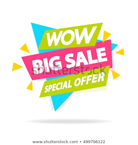 Set of special offer sale tags. Discount retail stickers on white stock photo © Evgeny89