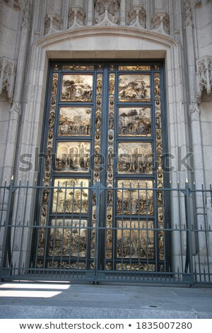 парадная · дверь · замок · Чешская · республика · древесины · город · двери - Сток-фото © yhelfman