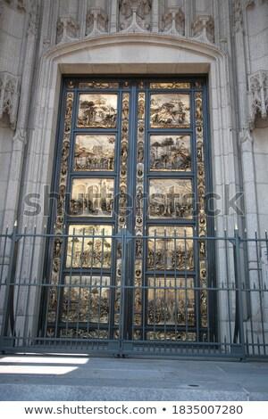 Ghiberti doors ('Gates of Paradise') of Grace Cathedral Stock photo © yhelfman