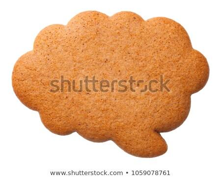 Gingerbread Speech Cloud Cookie Isolated on White Background Stock photo © Bozena_Fulawka
