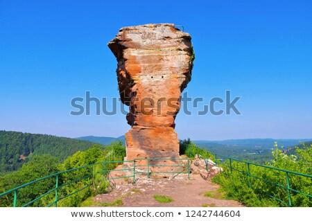 castle ruin Drachenfels in Dahn Rockland, Germany Stock photo © LianeM