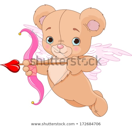 Cartoon Smiling Cupid Bear Stock photo © cthoman