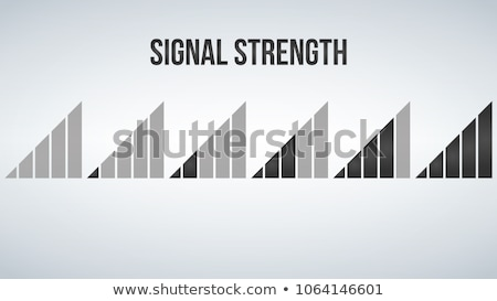 mobile phone signal strength indicator template wi fi wireless connection antenna signal strength stock photo © kyryloff