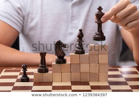 Uomo re pezzo degli scacchi primo piano Foto d'archivio © AndreyPopov