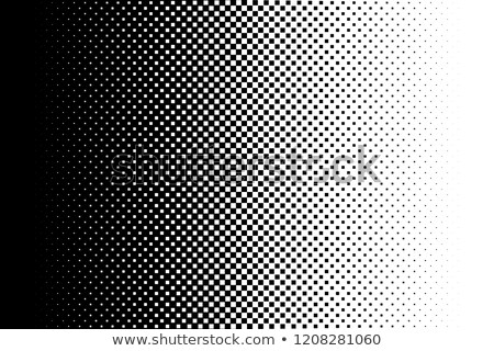 black halftone square background vector Stock photo © blaskorizov