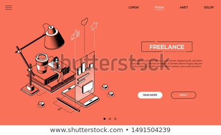 education concept   modern isometric vector web banner stock photo © decorwithme