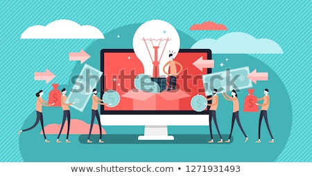 Concept Of Crowd Funding or Crowdfunding Stock photo © Lightsource