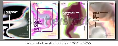Gradient płyn plakat zestaw wektora minimalny Zdjęcia stock © pikepicture