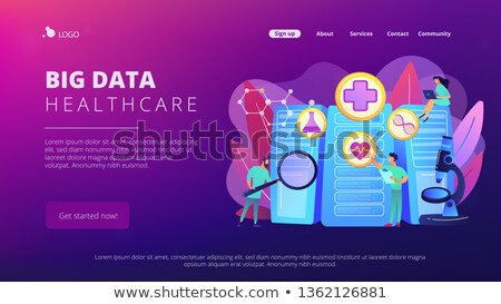 Big data healthcare concept landing page. Stock photo © RAStudio