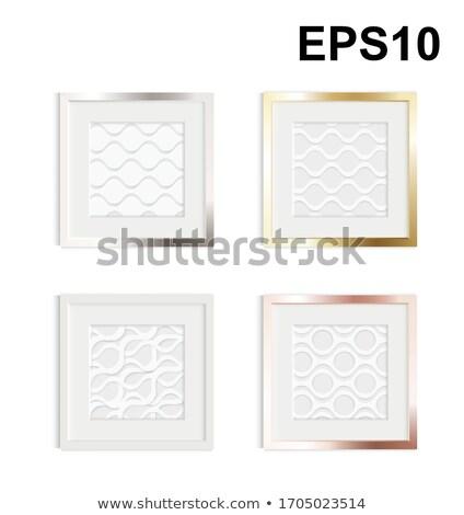 basis blank golden frame isolated Stock photo © koratmember