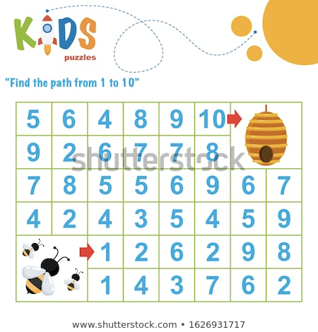 Matematik arılar 10 örnek çocuklar bahçe Stok fotoğraf © colematt
