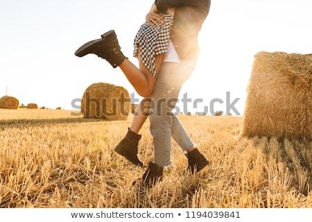 области · небе · синий · осень · сельского · хозяйства - Сток-фото © deandrobot