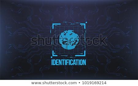 Impressão digital identificação vetor pessoa texto cartaz Foto stock © robuart