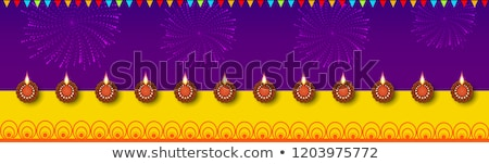 Stock photo: Happy Diwali 2018 Poster on Vector Illustration
