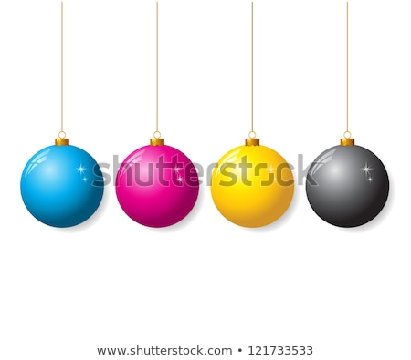 Cyan, magenta, yellow and black christmas trees Stock photo © icefront