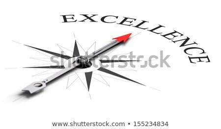 Pusula beyaz kalite manyetik iğne işaret Stok fotoğraf © make