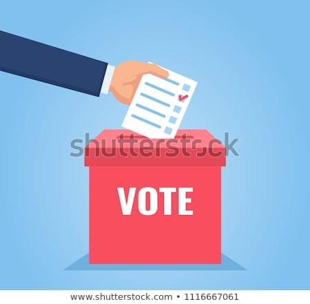 Işadamı oylama kutu el cam Stok fotoğraf © AndreyPopov