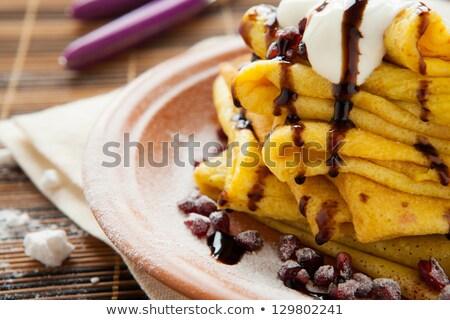Słodkie granat domowej roboty cukru tablicy cienki Zdjęcia stock © YuliyaGontar