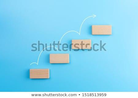 White Increasing Staircase Arrow Stock photo © AndreyPopov