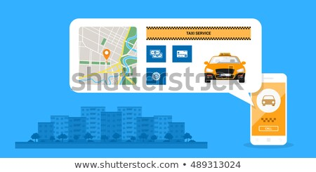 Online mobile city taxi transportation Stock photo © jossdiim