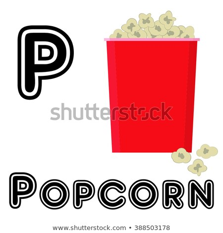 A letter P for popcorn Stock photo © colematt