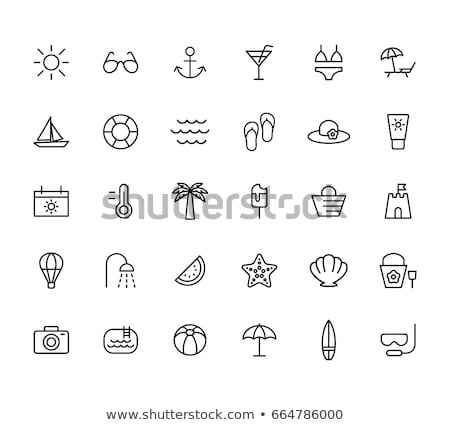 Beach icons set Stock photo © netkov1