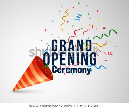 grand opening ceremoney background with confetti and cap Stock photo © SArts