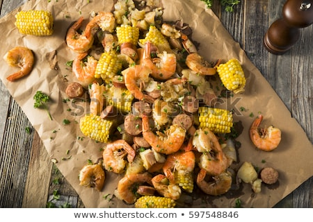 boiled shrimps Stock photo © tycoon